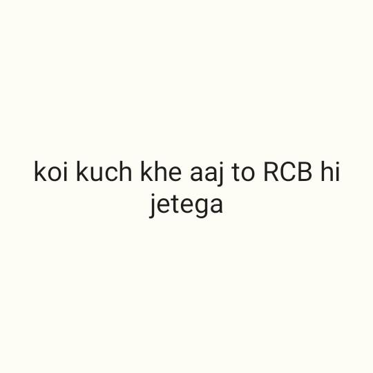 🏏 KKR 🖤 vs RCB ❤️ - koi khe aaj to RCB hi jetega - ShareChat