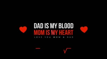 🎼 ମଦର୍ସ ଡେ ସ୍ପେଶାଲ ଗୀତ - DAD IS MY BLOOD MOM IS MY HEART LOVE YOU MOM & DAD DAD IS MY BLOOD MOM IS MY HEART LOVE YOU MOM & DAD - ShareChat