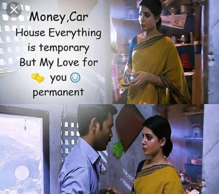 👩 பெண்களின் பெருமை - X Money , Car House Everything is temporary But My Love for you permanent - ShareChat