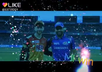 🔶 SRH vs MI 🔵 : 6 એપ્રિલ - IKE @ 168759064 SUNRISER KRUN COCINKS UMBAI he M INDIANS wine ago 15 hours ago LIKE APP Magic Video Maker & Community - ShareChat