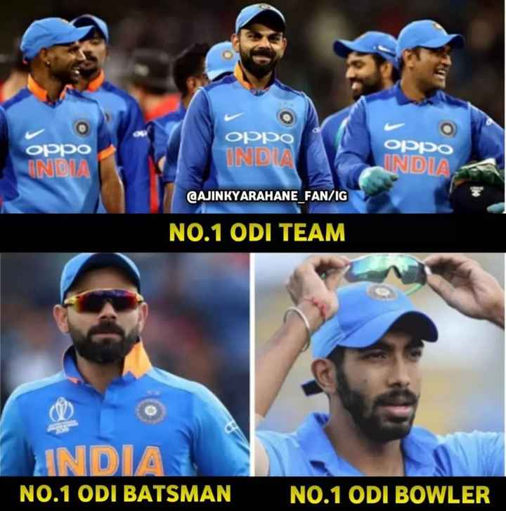 🏏AUS vs IND 2nd T20 - oppo INDIA oppo INDIA oppo INDIA CAJINKYARAHANE FAN / IG NO . 1 ODI TEAM INDIA NO . 1 ODI BATSMAN NO . 1 ODI BOWLER - ShareChat