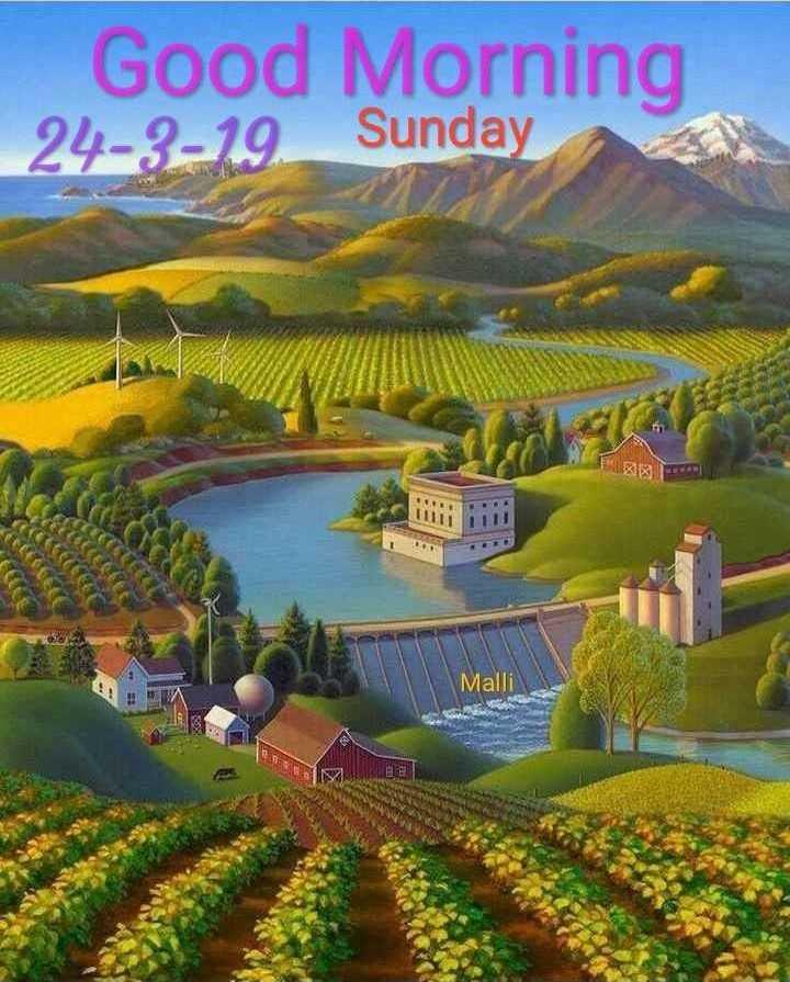 🖼 Art & Paintings - Good Morning 24 - 3 - 19 . Sunday Malli - ShareChat