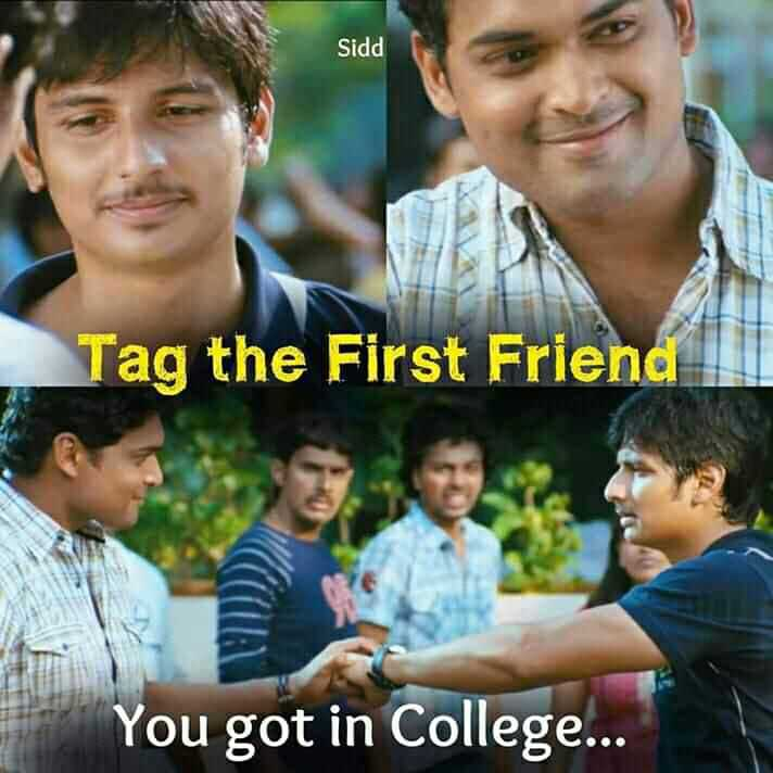 Best Friend - Sidd Tag the First Friend You got in College . . . - ShareChat