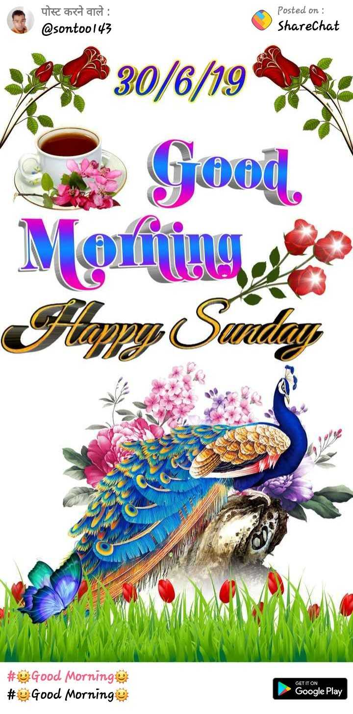 👋🏻Bye-bye जून🙁 - पोस्ट करने वाले : @ sontoo143 Posted on : ShareChat 30 / 6 / 19 . Good Moring , Flappy Sunday # Good Morning # Good Morninge GET IT ON Google Play - ShareChat