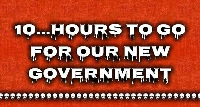 💺CM ఎవరు❓ - 10 . - - HOURS TO GO FOR OUR NEW GOVERNMENT - ShareChat
