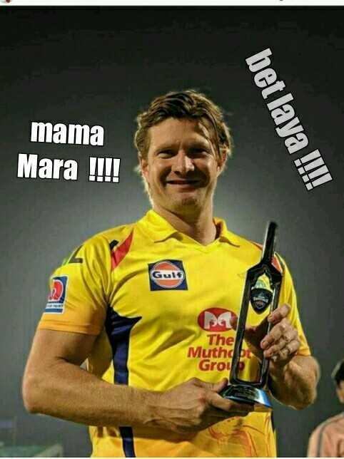 💛 CSK : ચેન્નાઈ સુપર કિંગ્સ - mama Mara ! ! ! ! bet laya ! ! ! ! Gult pa The Muthd Groi - ShareChat