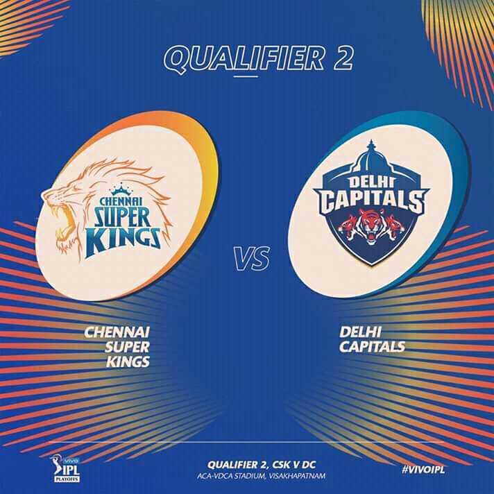 CSK vs DC - QUALIFIER 2 DELHI CHENNAI TAPITALS SUPER KINGS VS CHENNAI SUPER KINGS DELHI CAPITALS VIVA 3 PL > IPL QUALIFIER 2 , CSK V DC ACA - VDCA STADIUM , VISAKHAPATNAM QUALIFIER 2 , CSK V DC # VIVOIPL FLATORS - ShareChat
