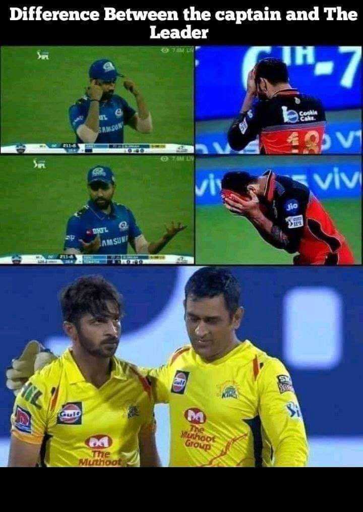 CSK vs KKR - Difference Between the captain and The Leader Set Zoe SAMSON OSV viv KEL AMASUS Gub he Muthoot Group Muthoot - ShareChat