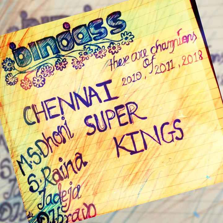 CSK vs KXIP - bindass There are champions CHENNAI 2010 , 92011 , 2018 KINGS 5 MS DHON SUPER S . Rainā Jane and - ShareChat
