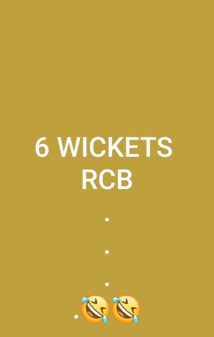 🏏CSK vs RCB 1st IPL मॅच - 6 WICKETS RCB - ShareChat