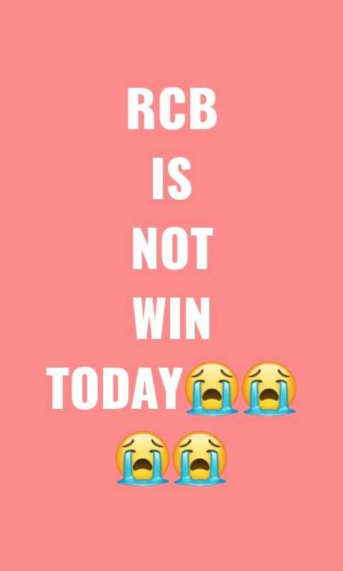 💛 CSK vs RCB 🔴 - RCB NOT WIN TODAY - ShareChat