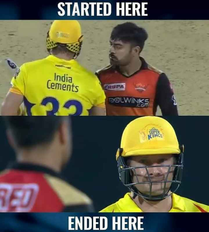 🏏 CSK 💛 vs SRH 🔶 - STARTED HERE India Cements DOLWINKS KUPER INCS RED ENDED HERE - ShareChat