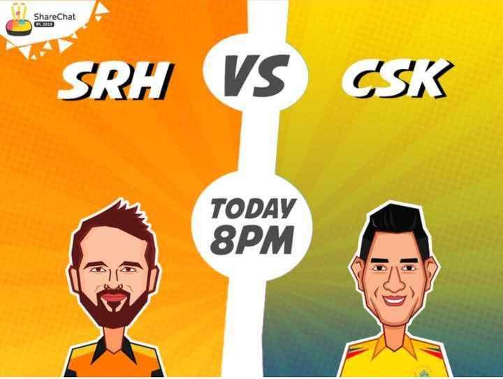 🏏CSK vs SRH - ShareChat PL 2009 SRH VS CSK TODAY 8PM - ShareChat