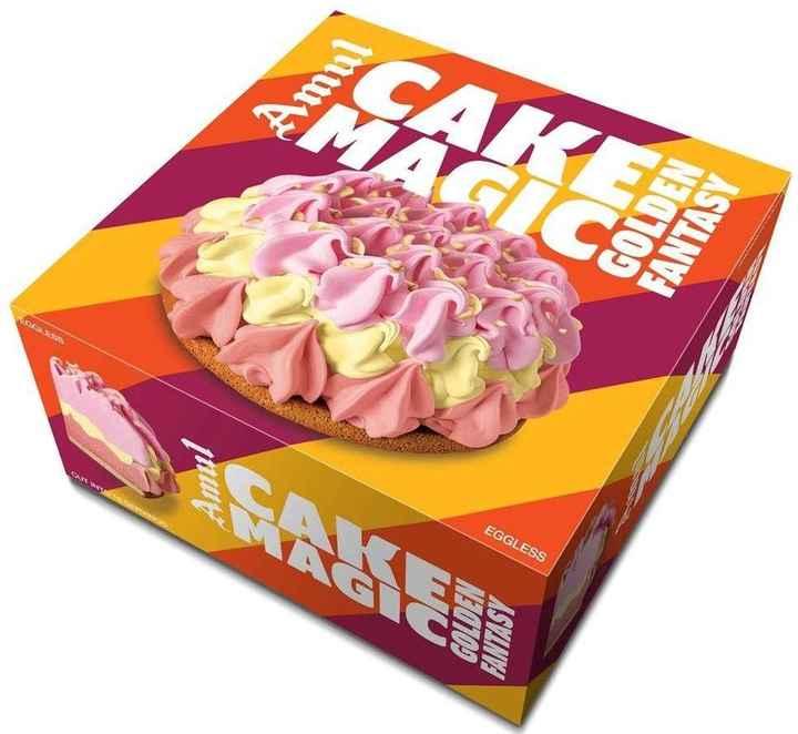 🎂 Cake દિવસ - MAKE Amul GOLDEN FANTASY EGGLESS - ShareChat