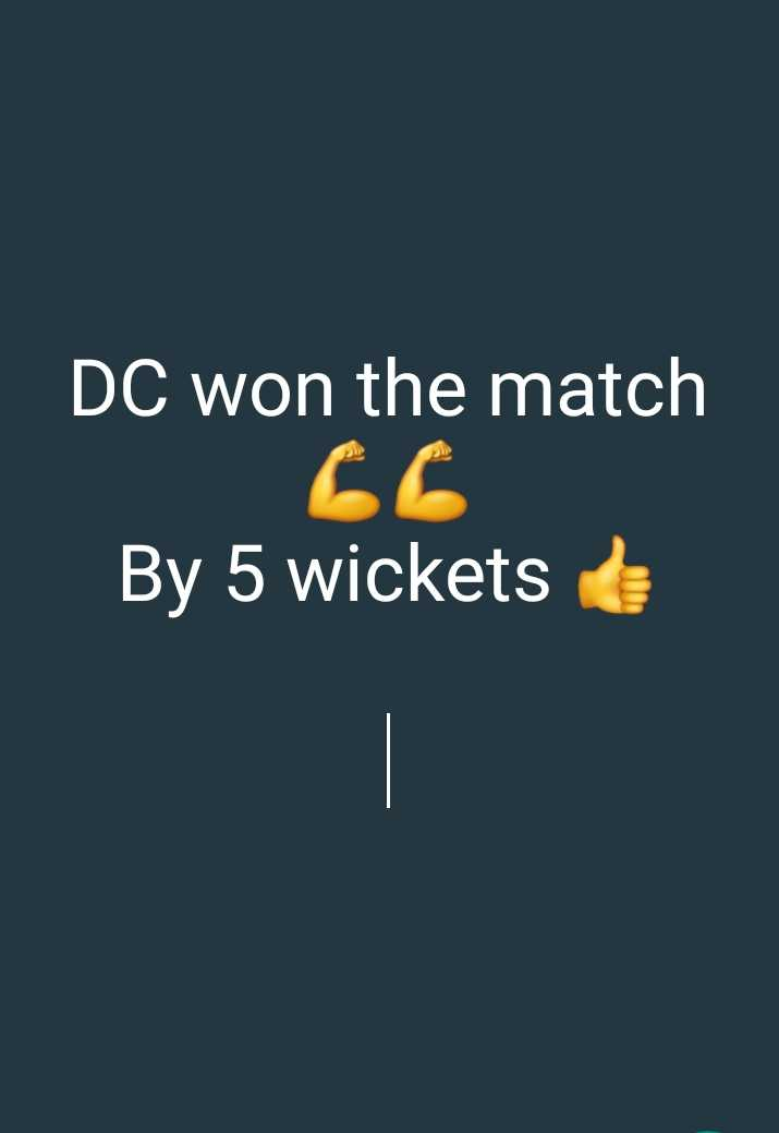 🏏DC vs KXIP - DC won the match By 5 wickets - ShareChat