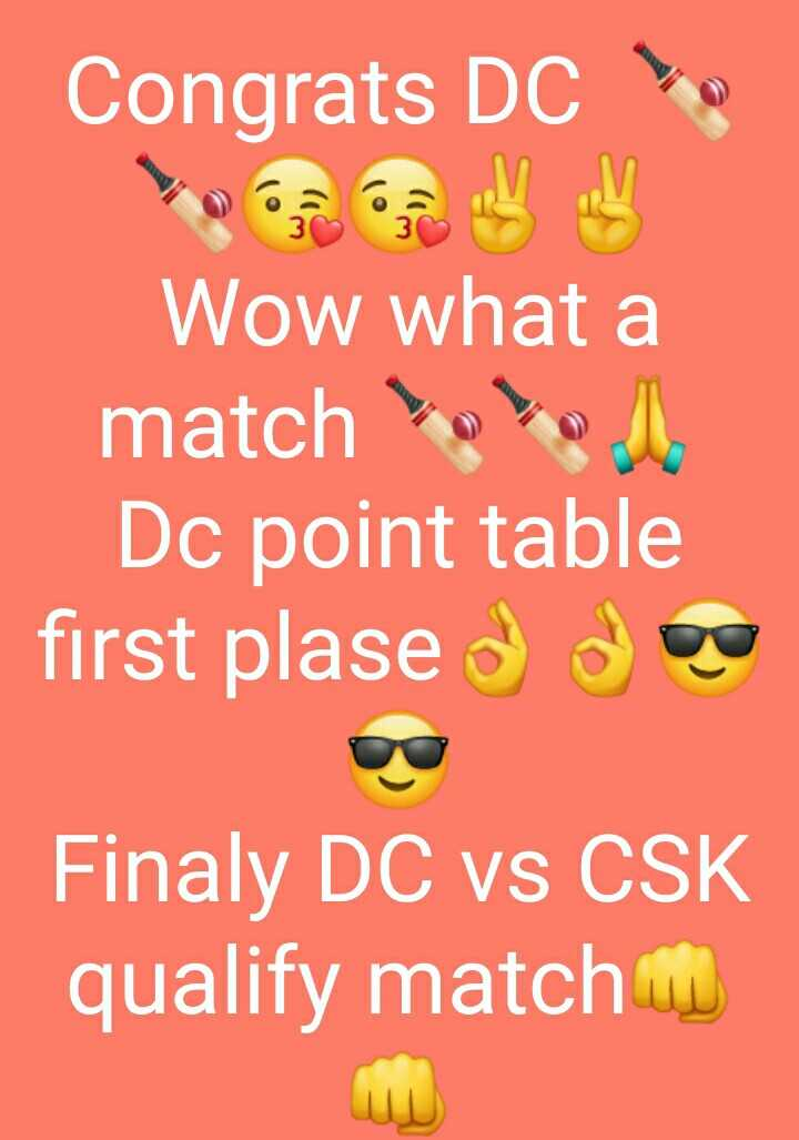 🏏DC vs RCB - Congrats DC Wow what a match Dc point table first plased due Finaly DC vs CSK qualify match G - ShareChat