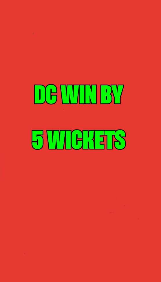 DC vs RR - DC WIN BY 5 WICKETS - ShareChat