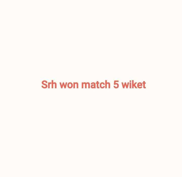 🏏 DC 🔷 vs SRH 🔶 - Srh won match 5 wiket - ShareChat