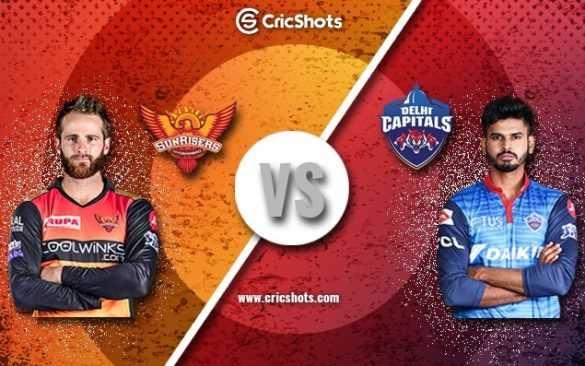 DC vs SRH - CricShots DELHI CAPITALS SUNRISERS AUPA COOLWINKS www . cricshots . com - ShareChat