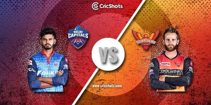 DC vs SRH - CricShots . DELHI CAPITALS RISERS RUPA 2 COOLWINKS www . cricshots . com - ShareChat