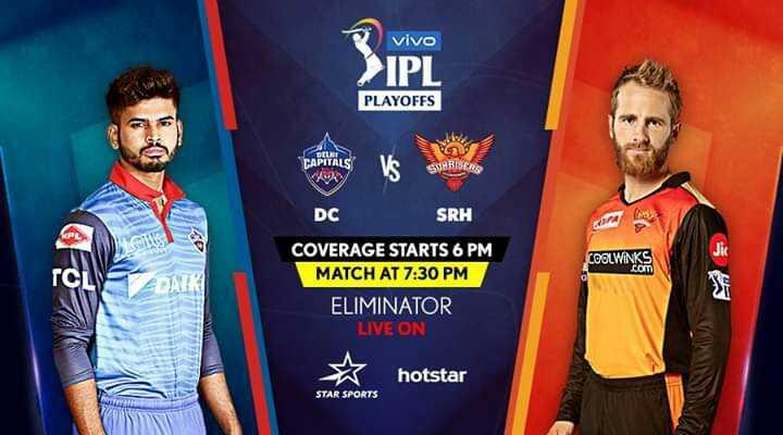 🏏 DC vs SRH - vivo > IPL PLAYOFFS CAPITALS SURISER DC SRH COOLWINKS COVERAGE STARTS 6 PM MATCH AT 7 : 30 PM ELIMINATOR LIVE ON ☆ hotstar STAR SPORTS - ShareChat
