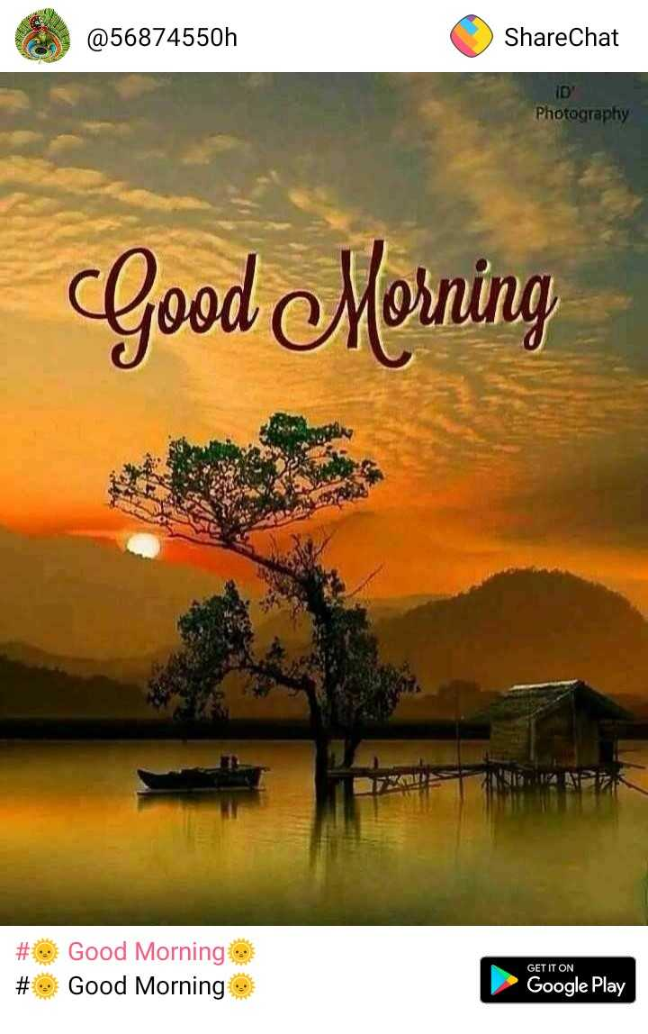 DEVI - @ 56874550h ShareChat ID ' Photography Good Morning NA # # Good Morning o Good Morning e GET IT ON Google Play - ShareChat