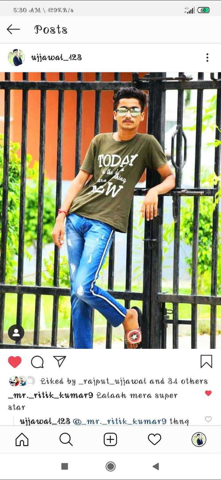 Devil😈 - 5 : 30 AM 129KB / 8 ul 60 6 Posts open ujjawal _ 123 TODAY the thing 14W Q V Liked by _ rajput _ ujjawal and 34 others _ mr . _ ritik _ kumari Lalaah mera super star ujjawal _ 123 @ _ mr . _ ritik _ kumar9 thng ♡ - ShareChat