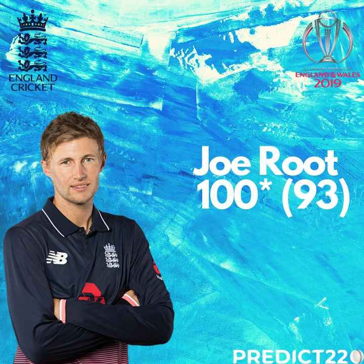 🏏ENG vs WI - ANORE ENGLAND WALES ENGLAND CRICKET Joe Root 100 * ( 93 ) PREDICT220 - ShareChat