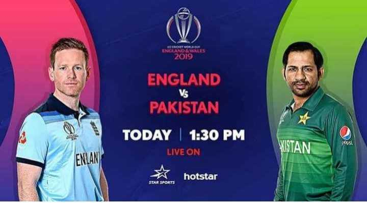 🏏Eng vs Pak - CRITURE ENGLAND & WALES 2019 ENGLAND PAKISTAN TODAY | 1 : 30 PM PANGLAND Vs LIVE ON XISTAN ENLAN X hotstar - ShareChat