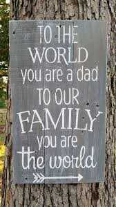 Father's - O THE WORLD you are a dad TO OUR FAMILY . . . you are the world - ShareChat