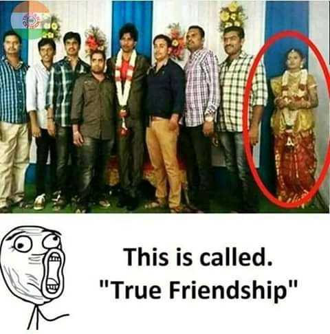 Funny Caption - This is called . True Friendship - ShareChat
