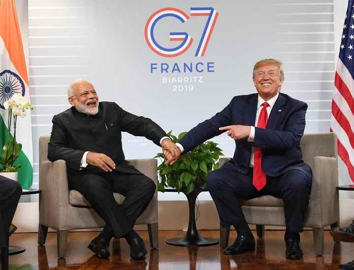 📰 G7 सम्मलेन में PM मोदी - FRANCE BIARRITZ 2019 BIARRITZ SU 2019 MET DE BIAI 2019 - ShareChat