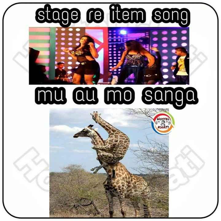 🤭GIF - stage re item song . . . U mu au mo sanga HOSTEL KHATT - ShareChat
