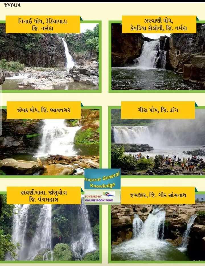 💯 GPSC તૈયારી - જળધોધ નિનાઈ ધોધ , ડેડિયાપાડા જિ . નર્મદા ઝરવાણી ધોધ , કેવડિયા કોલોની , જિ . નર્મદા ત્રંબક ધોધ , જિ . ભાવનગર ગીરા ધોધ , જિ . ડાંગ Gujarat General Knowledge હાથણીમાતા , જાંબુઘોડા જિ . પંચમહાલ જમજીર , જિ . ગીર સોમનાથ POWERED BY ONLINE BOOK ZONE - ShareChat