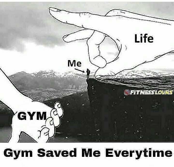 💪GYM/योगा - Life Me GFITNESS LOURS GYMS Gym Saved Me Everytime - ShareChat