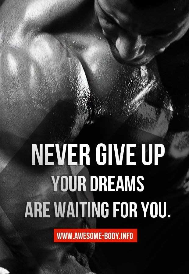 💪GYM/योगा - NEVER GIVE UP YOUR DREAMS ARE WAITING FOR YOU . WWW . AWESOME - BODY . INFO - ShareChat