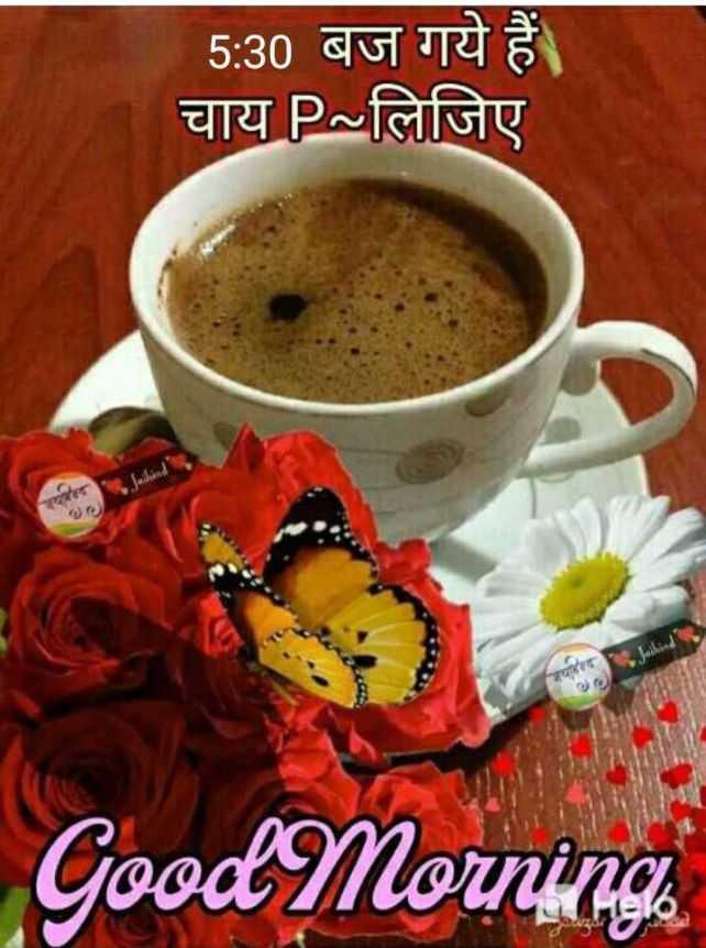 🌞 Good Morning🌞 - 5 : 30 बज गये हैं । चाय P ~ लिजिए ra Good Morning - ShareChat