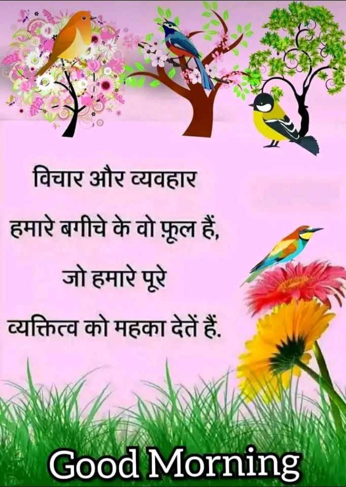 🌞 Good Morning🌞 - विचार और व्यवहार हमारे बगीचे के वो फूल हैं , जो हमारे पूरे व्यक्तित्व को महका देतें हैं . Good Morning - ShareChat