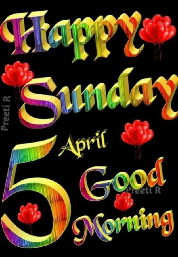 🌅 Good Morning - Flappy Sunday Preeti R April Good eeti R morning - ShareChat