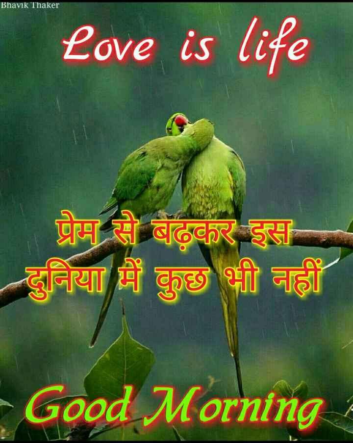 🌞 Good Morning🌞 - Bhavik Thaker Love is life प्रेम से बढ़कर इस दुनिया में कुछ भी नहीं - Good Morning - ShareChat