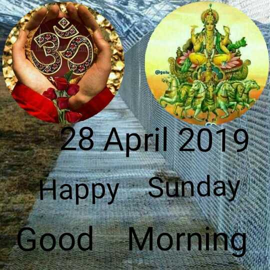 🌞Good Morning🌞 - @ golu 28 April 2019 Happy Sūnday Good Morning - ShareChat