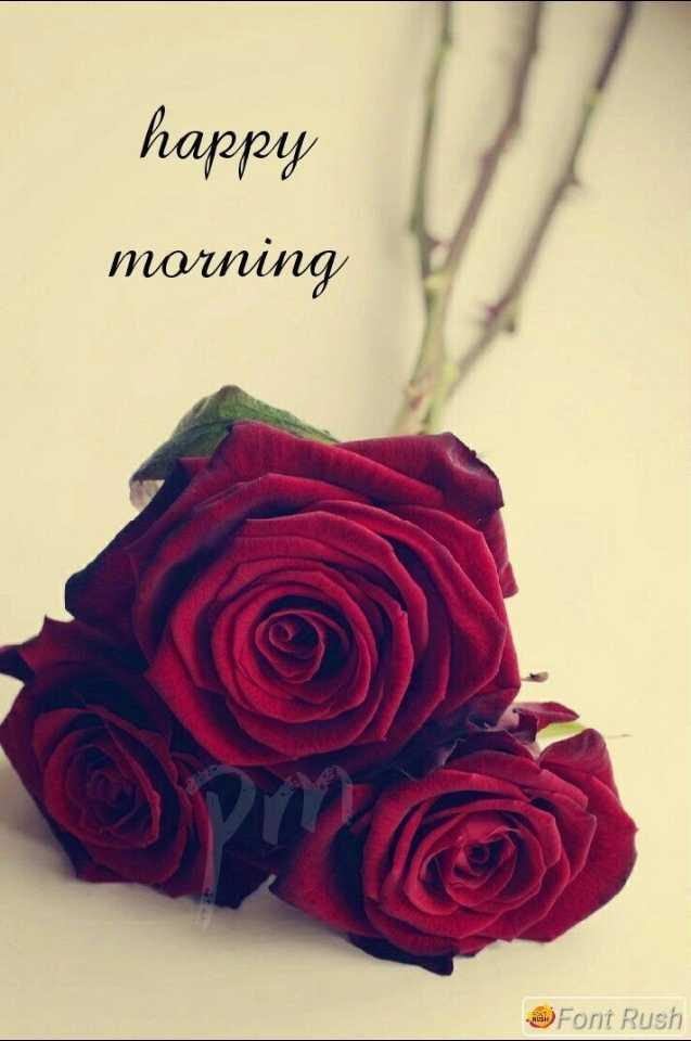🌞 Good Morning🌞 - happy morning Font Rush - ShareChat