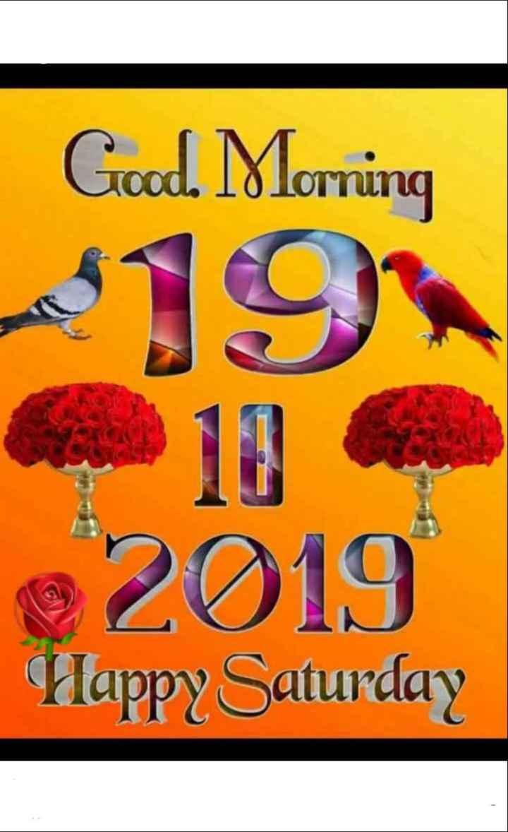 🌞 Good Morning🌞 - Good Morning 2019 Happy Saturday - ShareChat