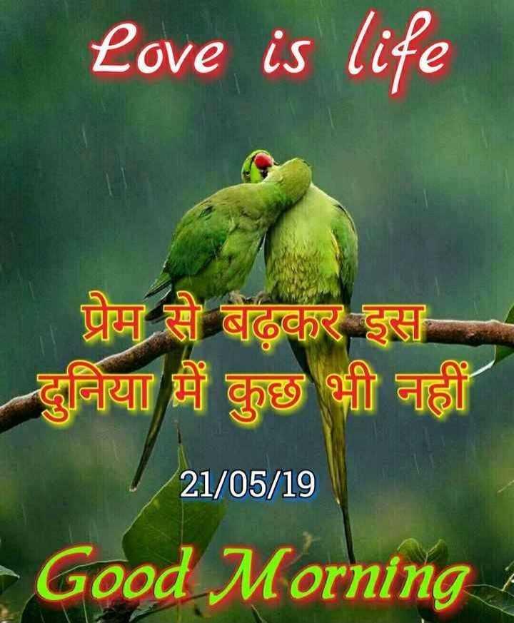 🌞Good Morning🌞 - Love is life या है । बढ़कर इस दुनिया में कुछ भी नहीं । 21 / 05 / 19 Good Morning - ShareChat