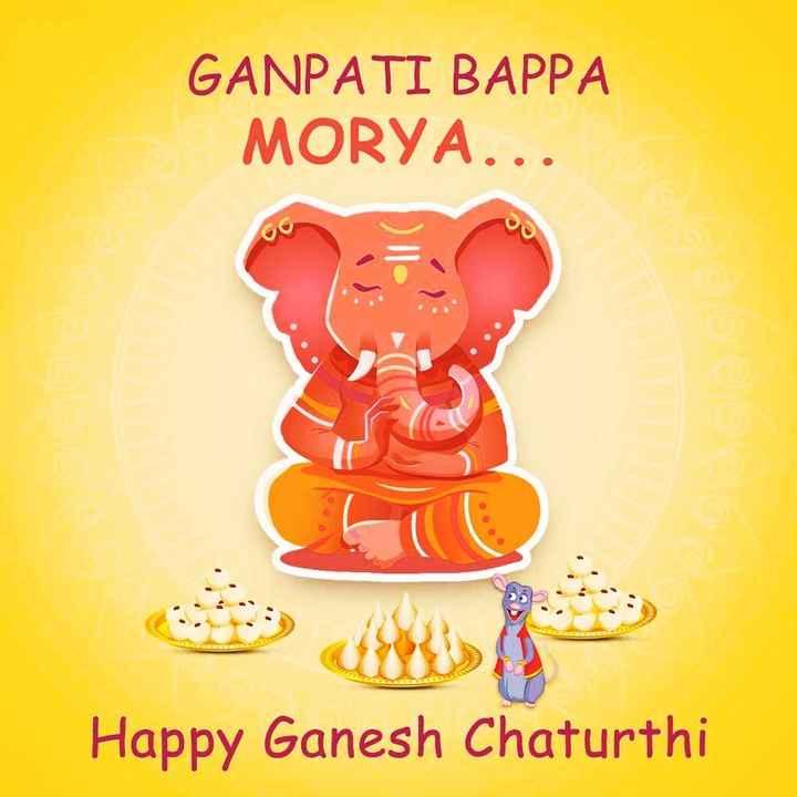 🌞Good Morning🌞 - GANPATI BAPPA MORYA . . Happy Ganesh Chaturthi - ShareChat
