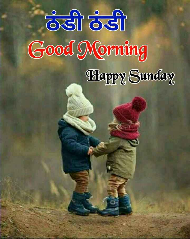 🌞 Good Morning🌞 - ठंडी ठंडी Good Morning Dappy Sunday - ShareChat