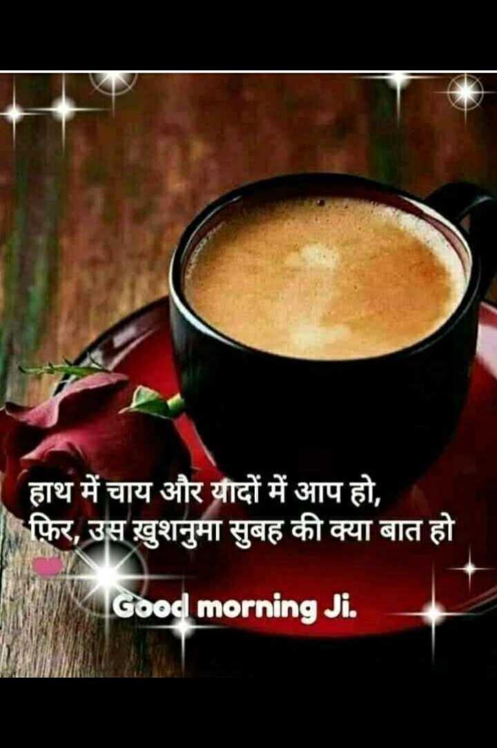 🌞 Good Morning🌞 - हाथ में चाय और यादों में आप हो , फिर , उस ख़ुशनुमा सुबह की क्या बात हो Good morning Ji . - ShareChat