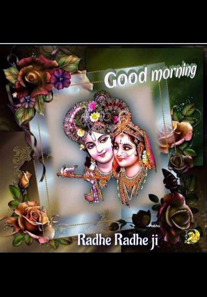 🌞 Good Morning🌞 - Good morning Prabhu Radhe Radhe ji - ShareChat