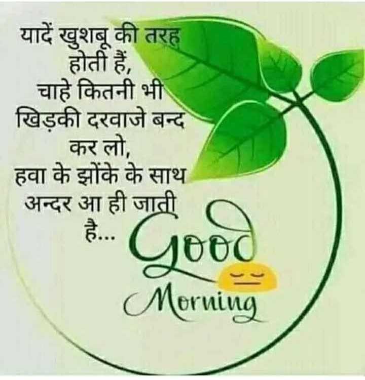 🌅 Good Morning - यादें खुशबू की तरह होती हैं , चाहे कितनी भी खिडकी दरवाजे बन्द कर लो , हवा के झोंके के साथ अन्दर आ ही जाती - है . . . Ltd Morning - ShareChat