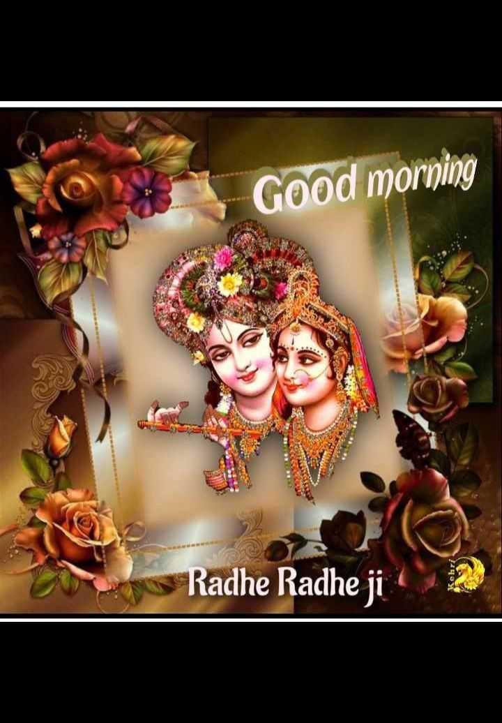 🌞 Good Morning🌞 - Good morning Radhe Radhe ji Kehri - ShareChat